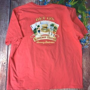 Tommy Bahama Coral Bet On A Shore Thing XL T-Shirt